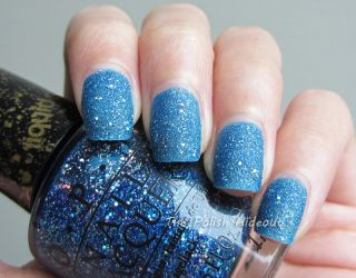 ★opi★ Get Your Number Mariah Carey Blue Holo Glitter Liquid Sand Nail Polish
