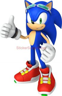 Sonic Riders The Hedgehog Decal Removable Wall Sticker Home Decor Art Game Giant