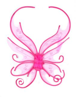 Gorgeous Pink Glitter Fairy Love Wings Costume New