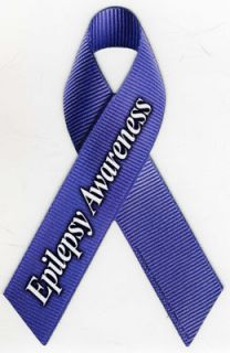 Epilepsy Awareness Ribbon Car Magnet