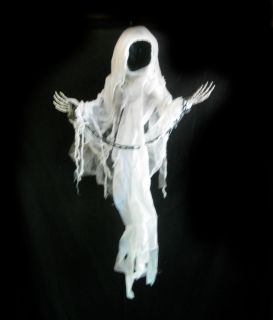 Ghost Spirit in Chains Faceless Reaper Scary Halloween Party Prop 3 Feet Long
