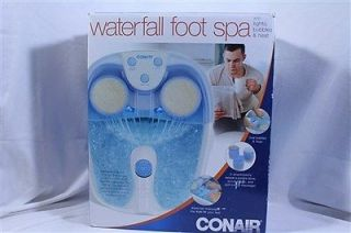 Conair FB52 Foot Bath Lighted Waterfall Spa Massage Foot Bath w Heat