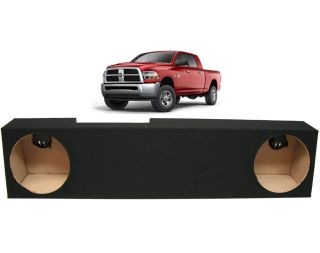 "2006 2013 Dodge RAM Mega Cab Truck Dual 10"" Custom Speaker Subwoofer Sub Box New"
