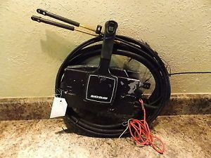 Mercury Quicksilver Side Mount Control Box w Key 10ft Cables 14408
