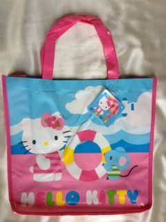 Hello Kitty Mini Reusable Plastic Tote Gift Snack Bags 2 Designs