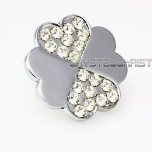 Flower Style Handles Clear Crystal Glass Drawer Cabinet Knobs Handle Pulls