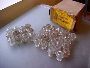 Antique Glass Drawer Pulls