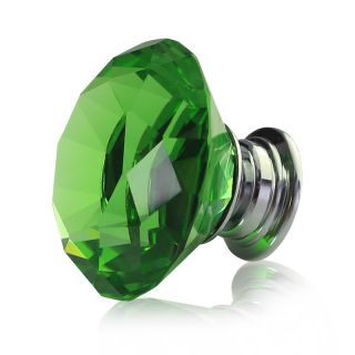 Green Glass Cabinet Knobs