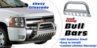 "Bull Bar 3"" Stainless Push Grill Guard 01 07 Chevy GMC Sierra 1500HD 2500HD 3500"