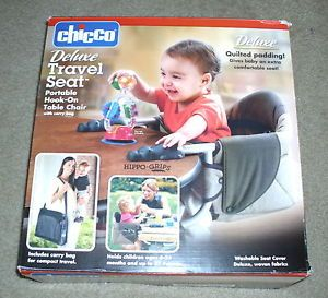 Chicco Deluxe Travel Seat Portable Hook on High Chair Booster New in Box