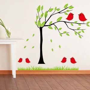 Bird Tree Bedroom Wall Stickers Home Decor Mural Art Quotes Design Vinyl Decal