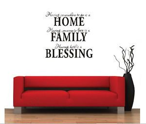 Home Family Blessing Removable Vinyl Wall Quote Sticker Decal Mural Home Decor
