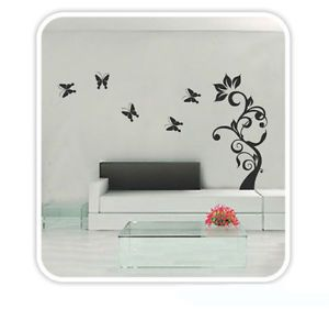 New Tree Butterfly DIY Wall Decor Sticker Mural Decals Bedroom Home Decor