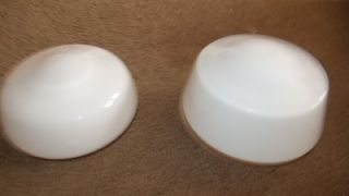 "White Ceiling Fan Light Lighting Glass Cover Home Improvement Lot 8 5"" Diameter"
