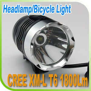 1800 Lumen CREE XML XM L T6 LED Bicycle Light Cycle Bike Headlight Headlamp Lamp