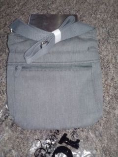 Thirty One Organizing Shoulder Bag in Grey Brushed Twill
