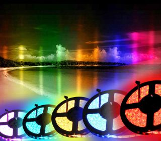 16ft 5050 RGB SMD LED Waterproof Flexible Strip 300 LEDs 44 Key IR Remote