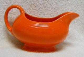 Homer Laughlin China Fiesta Vintage Radioactive Red Color Open Sauce Boat