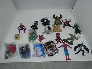 Spiderman Marvel Comic Hero 19 Action Figure Toys 6 McDonalds Burger King