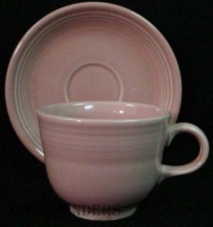 Homer Laughlin China Fiesta Contemporary Rose Cup Saucer Set