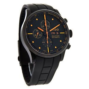 Mido Multifort Mens Black Swiss Chronograph Automatic Watch M005 614 37 051 01