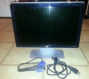 "HP W1907 19"" Widescreen Flat Panel LCD Monitor 1440 x 900 VGA DVI"