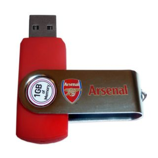 Arsenal Official Gift 1GB USB Flash Drive Swivel Memory Stick RRP £14 99