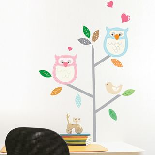 Owls Tree Kids Room Wall Stickers Vinyl Wall Decals
