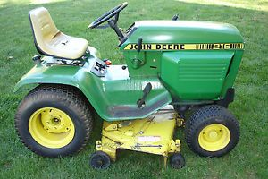 John Deere 216 Lawn Tractor Riding Mower 16 HP Cast Iron Kohler