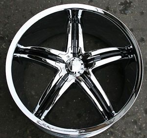 "Viscera 770 22"" Chrome Rims Wheels Lincoln Continental Ford"
