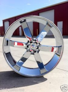 24 inch Chrome U2 Wheels Tires Silverado Tahoe Sierra