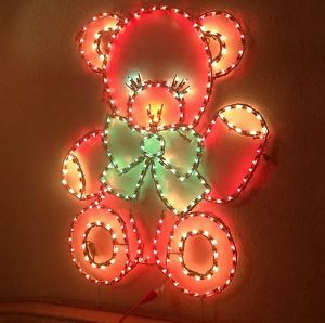 Holiday Lighting Specialists Christmas Teddy Bear Outdoor Light Display
