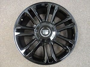 "Cadillac Escalade Platinum 24"" Glossy Black Set of 4 Replica Wheels Cap 24x9 5"
