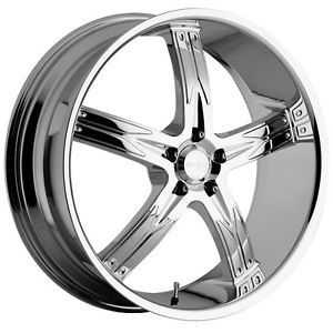 22 inch x8 5 Devino Flawless Chrome Wheel Rim 5x120 35
