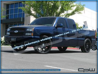 "Silverado Suburban Tahoe 24"" Rims and Tires Package Pre Balanced Black Finish"