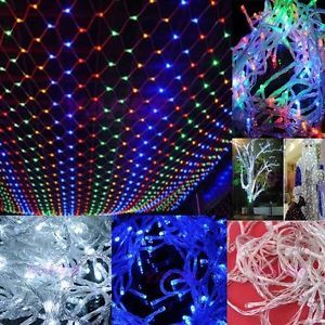 4pc Lot 100 LED Mesh String Lights Christmas Wedding Fairy Indoor Outdoor Lights