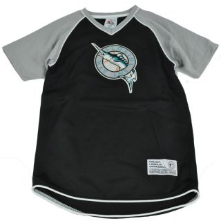 MLB True Fan Florida Miami Marlins Baseball Licensed Youth Kids Jersey Shirt