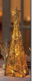 New RARE Vintage 2006 Avon Majestic Lighted Gold Holiday Christmas Tree