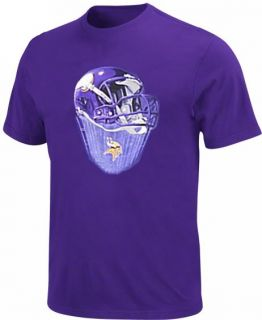 Minnesota Vikings NFL Team Apparel Purple Helmet Tee Shirt Big Tall Sizes