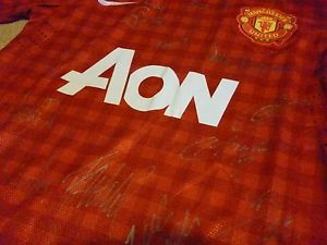 Manchester United Team Player Signed Autographed Soccer Football Jersey Shirt