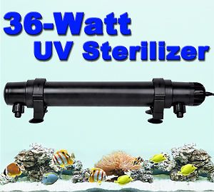 36W UV Sterilizer Light Clarifier Aquarium Pond Koi Tank Lamp Ultraviolet Filter