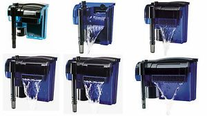 New Water Filter Hang on Quad System All Sizes Aquarium Fish Tank GPH Gallon