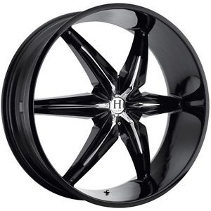 26 inch Helo HE866 Black Wheels Rims 5x135 Ford F150