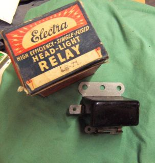 Vintage Electra Brand Headlight Relay Ford Chevy Mopar Universal 1930s