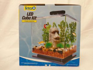 Tetra 29095 3 Gallon Cube Aquarium Kit with Bright White LED Lights
