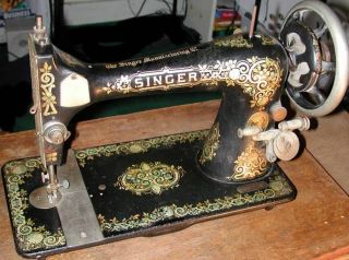 "Singer Moderl 27 127 ""Gingerbread"" Style Sewing Machine Restoration Decals"