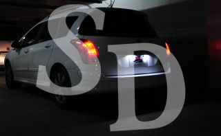 LED License Plate Lamp Light for Peugeot 308 5D Hatchback 508 207 CC Citroen C2
