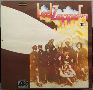 LED Zeppelin II 2 LP VG ATL SD 8236 German Press Stereo Atlantic 1969 Record