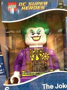 Lego DC Super Heroes Batman Joker Mini Figure Alarm Clock New