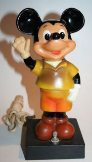 Vintage Walt Disney Mickey Mouse Bobble Head Night Lamp Light MM1 Disneyana